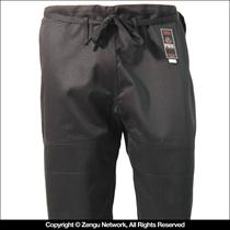 Black Single Weave BJJ Pants